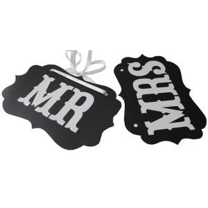 Free-Shipping-DIY-Black-Mr-Mrs-Paper-Board-Ribbon-font-b-Sign-b-font-Photo-Booth