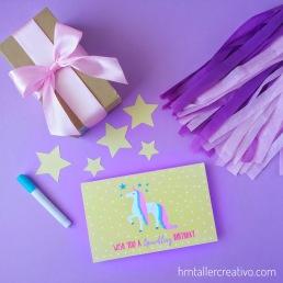Tarjeta unicornio-hmtc